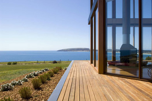 Glass Home Design Terrace Wood Flooring