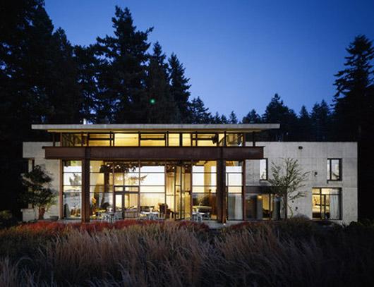 glass wall modern house design ideas