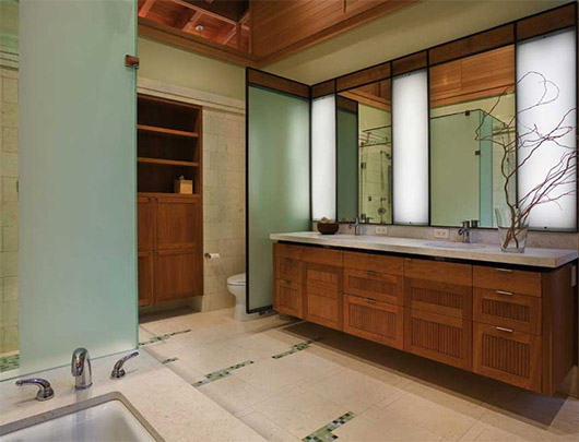luxury wooden house interior design bathroom
