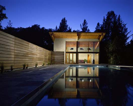 Pool house design architecture