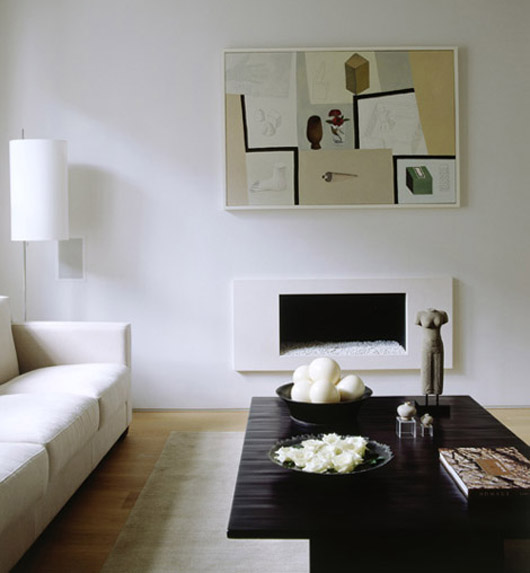 luxurious white interior decorating fireplace