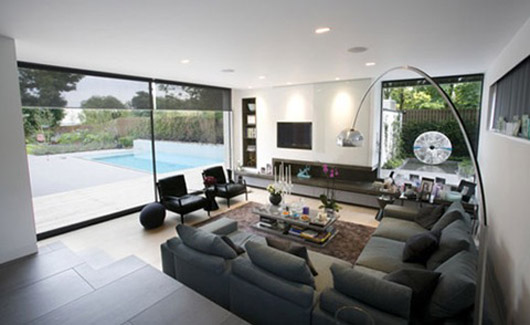 modern house architecture design living room