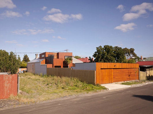 wooden boxes house design exterior