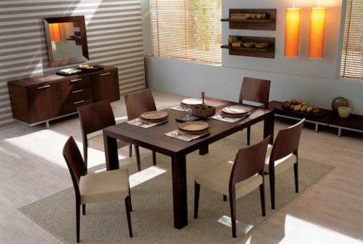 Simple Rectangle Dining Room Furniture Design
