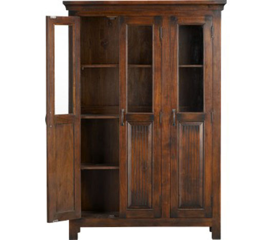 wooden three door cabinet design furniture