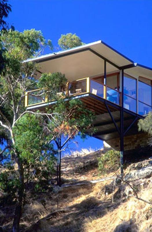 modern home architecture design sandstone wall