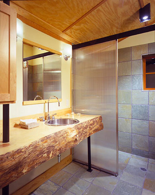 wooden house design interior bathroom ideas