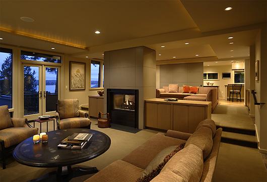 contemporary residence house design living room