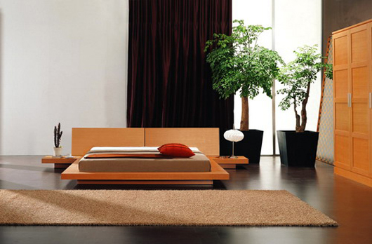 Modern Wooden Platform Bed Design Bedroom Furniture
