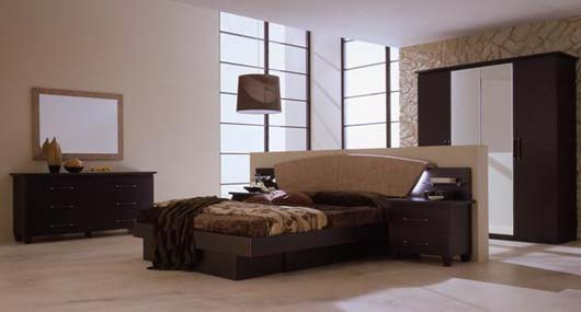 Modern Contemporary Platform Bed Design Furniture With Storage