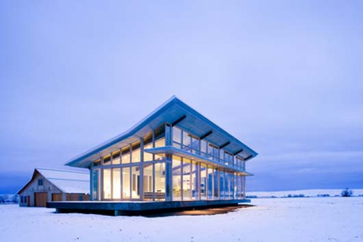 Modern Contemporary Glass Farmhouse Design Traditional Architecture