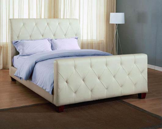 Traditonal Leather Bed Design With Modern Contemporary Style Bedroom Decorating