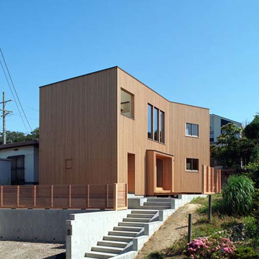 Japanese Architecture Design Modern Wooden Home Decorating With Flat Roof
