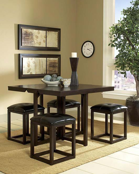 Modern Classic Design Dark Oak Dining Furniture For Small Space ...