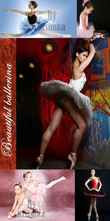 Stock Photo: Beautiful ballerina