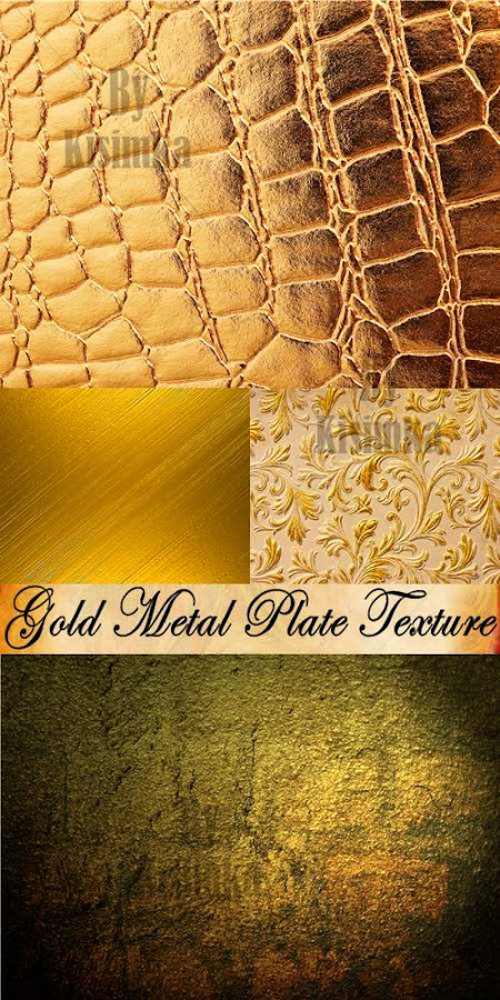 Texture. Gold Metal Plate