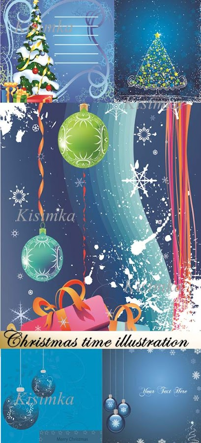 Stock vector: Christmas time illustration