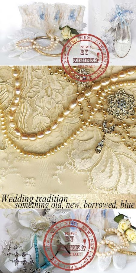 Stock Photo: Wedding tradition: something old, new, borrowed, blue