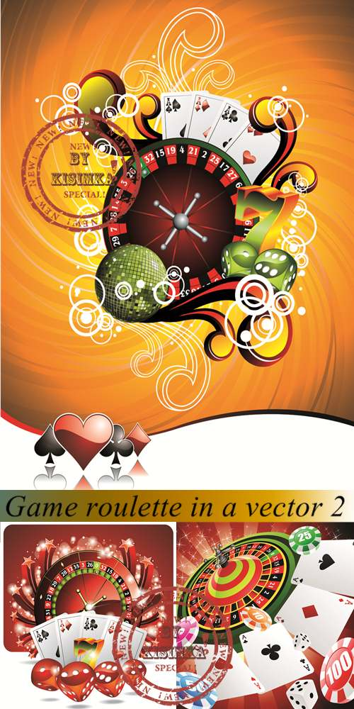 Stock: Game roulette in a vector 2