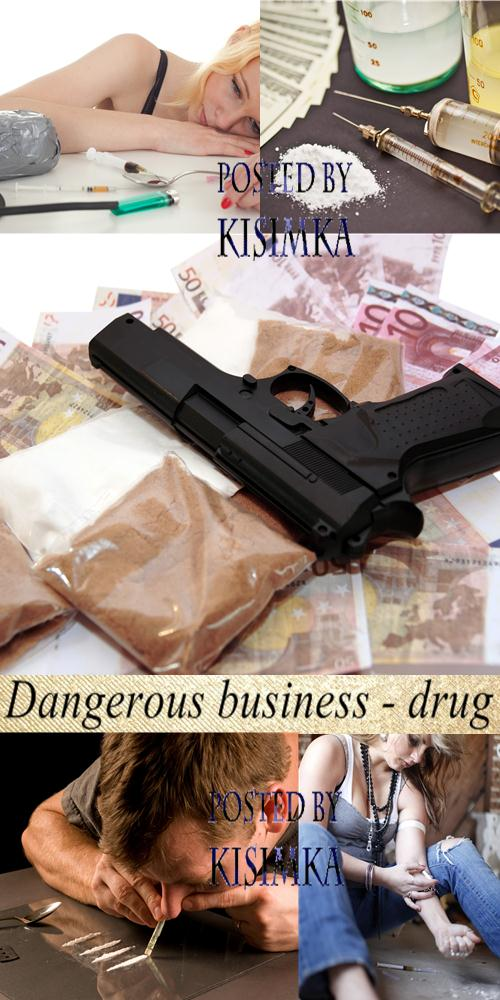 Stock Photo: Dangerous business - drug