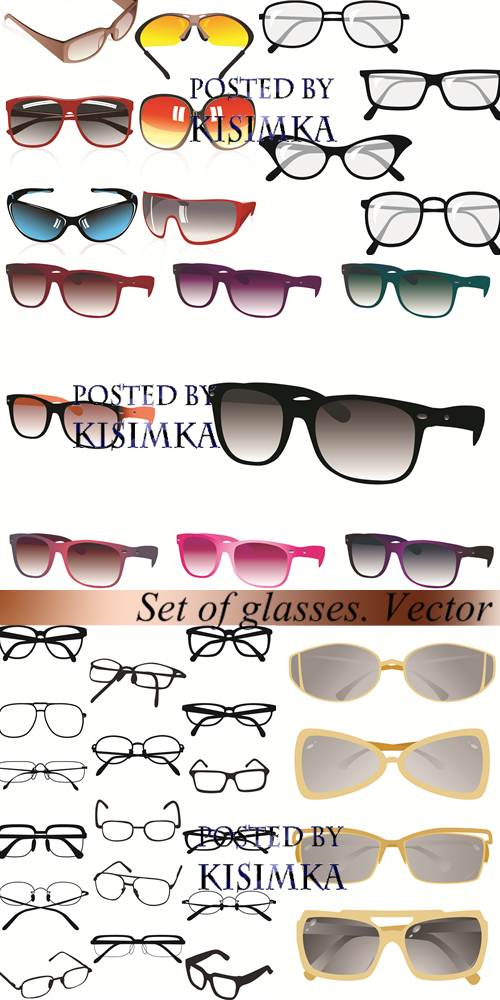 Stock: Set of glasses. Vector