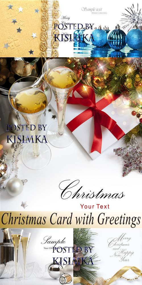 Stock Photo: Christmas Card with Greetings