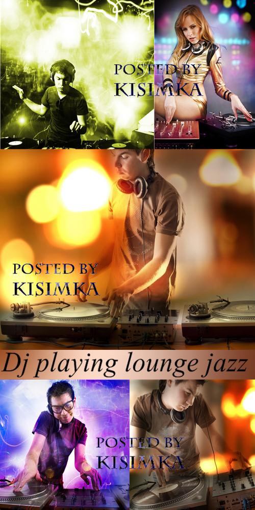 Stock Photo: Dj playing lounge jazz