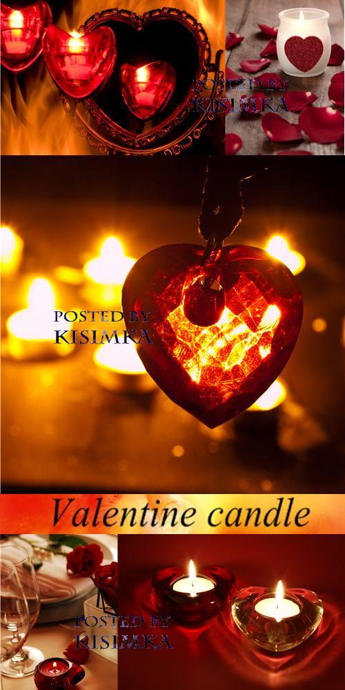 Stock Photo: Valentine candle