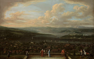 RIJKS: Jean Baptiste Vanmour: View of Istanbul from the Dutch Embassy at Pera 1737
