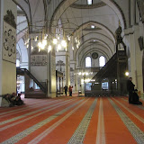 interior, looking across the aisles, qibla wall on right