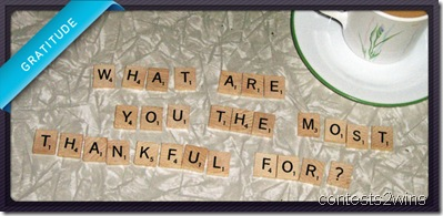 What are you the most thankful for?
