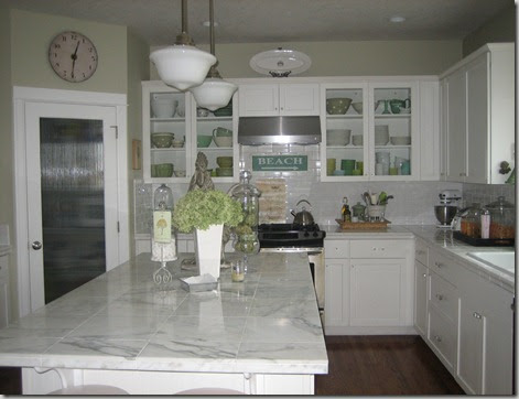Curb Appeal: Custom white kitchen makeover before and after!