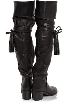 see by chloè - Wrap-around leather over-the-knee boots - 605
