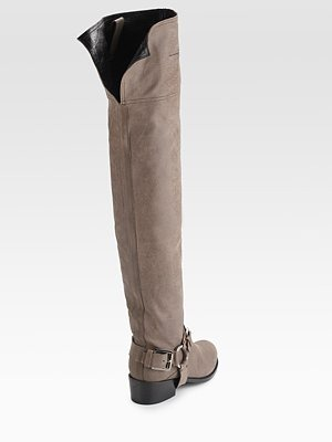 DIOR - Biker Suede Over-The-Knee Boots - 1044