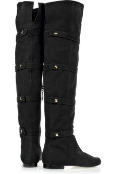 fendi - Over-the-knee suede boots - 1100