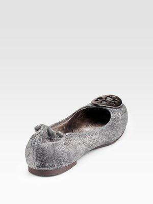 TORY BURCH - Reva Metallic Suede Ballet Flats - 190