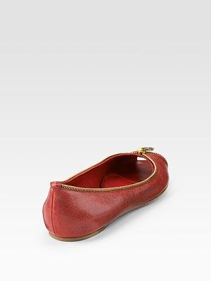 ALEXANDER MCQUEEN - Zip-Detailed Ballet Flats - 445