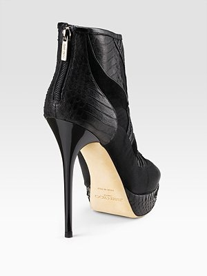 JIMMY CHOO - Faxon Mixed Material Ankle Boots - 1174