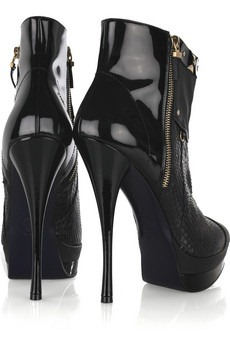 VERSACE - Leather and python ankle boots - 1175