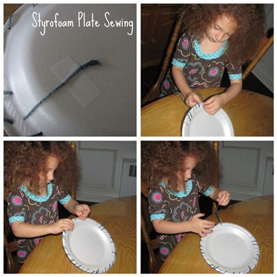 Styrofoam Plate Sewing