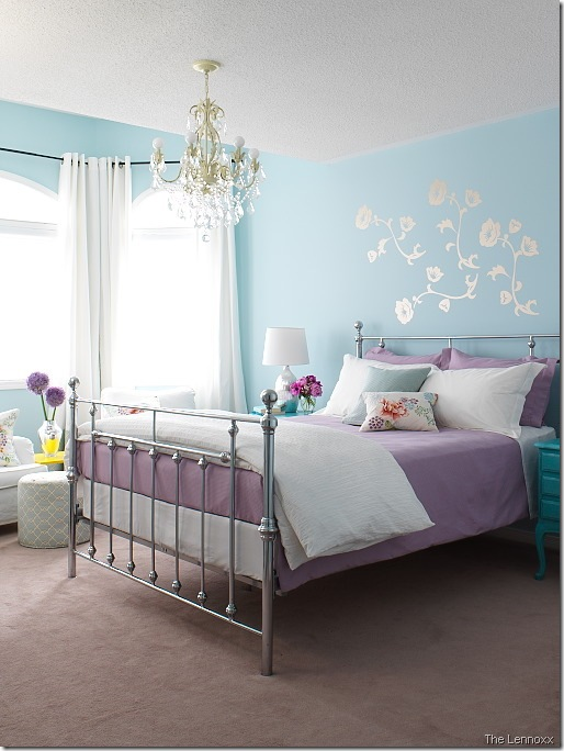 bedroom the lennoxx. DesignTies  Did someone say purple and turquoise