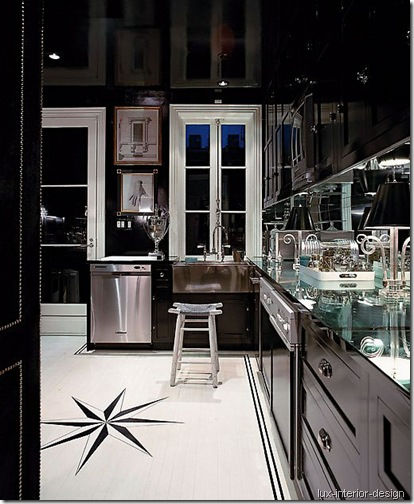 black kitchen lux-interior-design