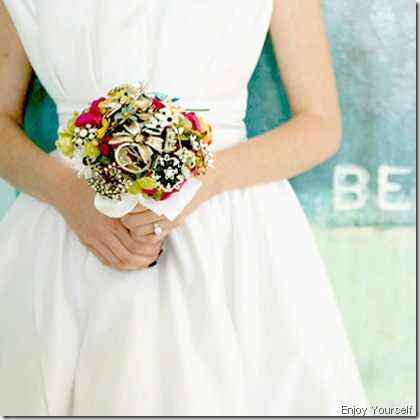 bride with bouquet flickr