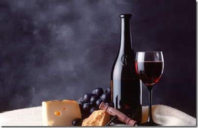 wine and cheese vinsidan