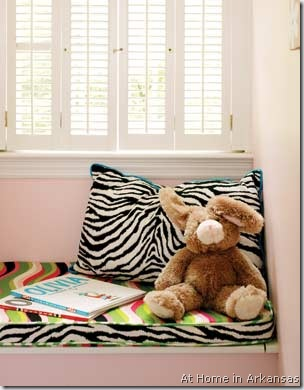 zebra window bench