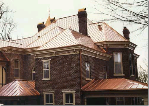 how to clean copper roof