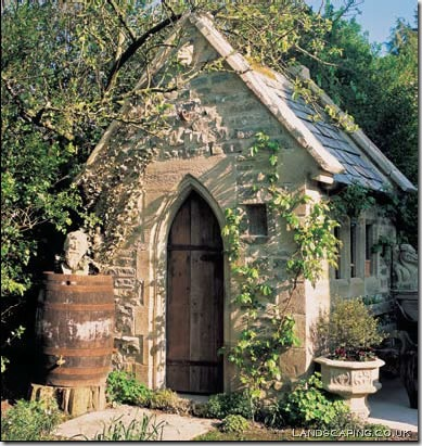 potting shed stone rustic landscpaing co uk