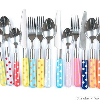 cutlery strawberry fool