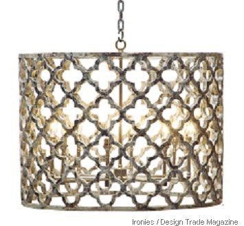 quatrefoil ironies chandelier design trade magazine