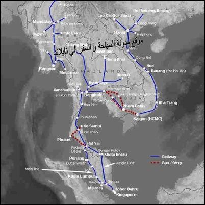 خريطة القطار في تايلاند